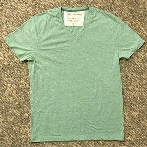 Men's Banana Republic green v-neck the vintage t